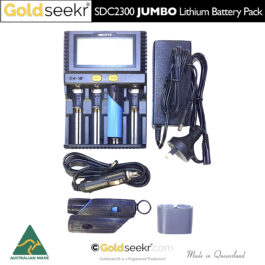 JUMBO Lithium Ion 5000mAh 37Wh Battery Upgrade Pack – for Minelab SDC2300