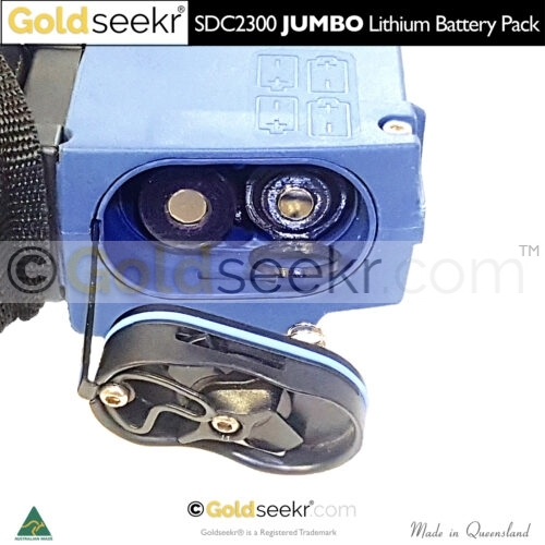 The Pull ring to remove your goldseekr Lithium Battery unit